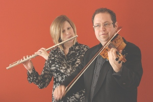 Pete and Lisa on flute and violin
